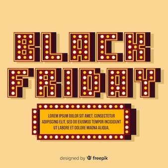 Zwarte vrijdagachtergrond in vlak ontwerp