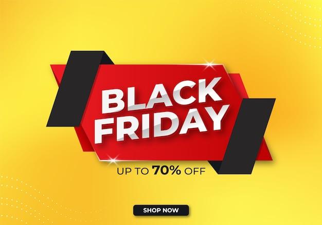 Zwarte vrijdagbanner of verkoopbanner met korting premium-sjabloon