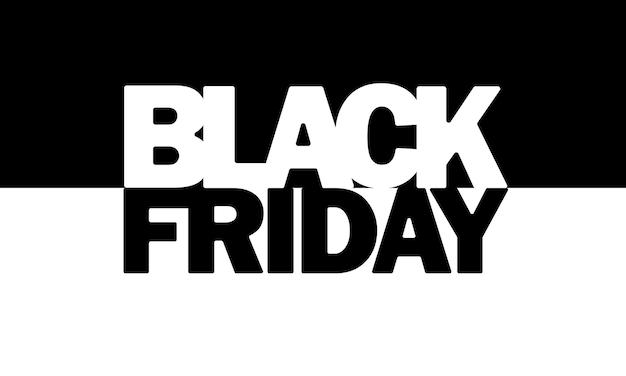 Zwarte vrijdagbanner. uitverkoop. zwart-wit concept. vector op geïsoleerde achtergrond. eps-10.