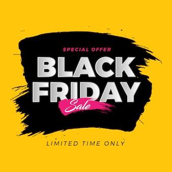 Zwarte vrijdagborstel bannerverkoop