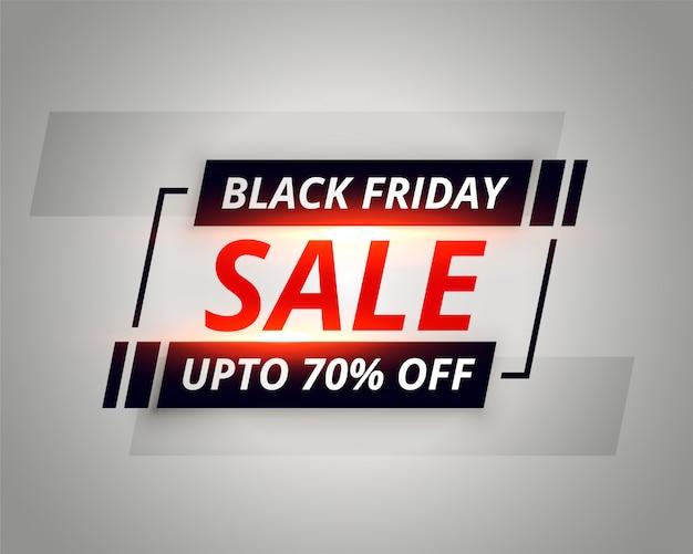 Zwarte vrijdagsjabloon spandoek verkoop