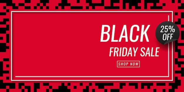 Zwarte vrijdagverkoop 25% korting op sjabloonontwerp