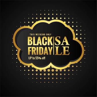 Zwarte vrijdagverkoop met gouden kaart