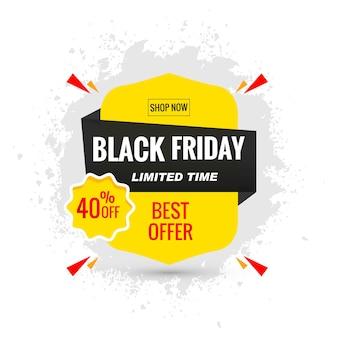 Zwarte vrijdagverkoop voor posterlay-out