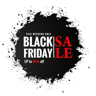 Zwarte vrijdagverkoop voor zwarte plons