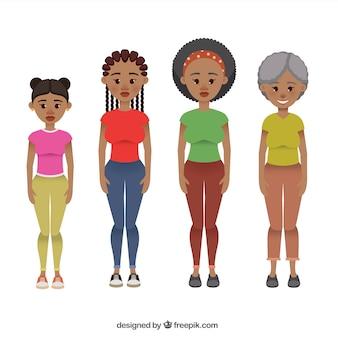 Zwarte vrouwen in verschillende leeftijden