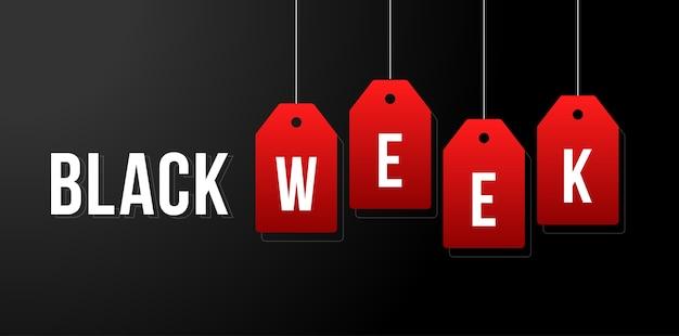 Zwarte week illustratie