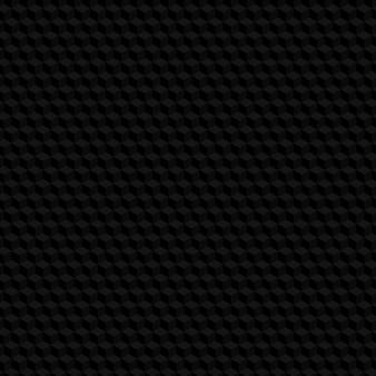 Zwarte zeshoek naadloze patroon achtergrond