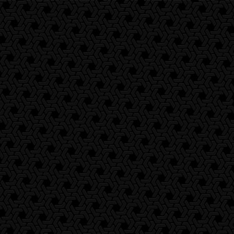Zwarte zeshoek retro patroon achtergrond