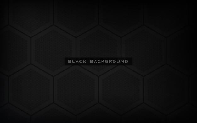 Zwarte zeshoek textuur achtergrond