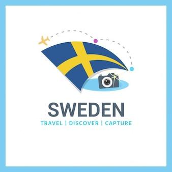 Zweden travel logo