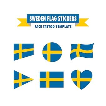 Zweden vlag sjabloon