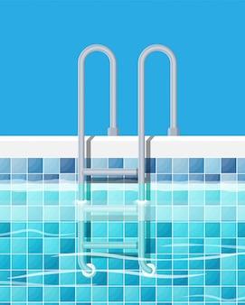 Zwembad en ladder.