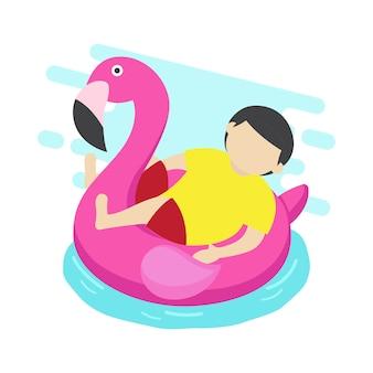 Zwembad inflatables vector illustratie