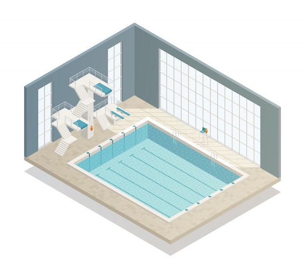 Zwembad isometrisch