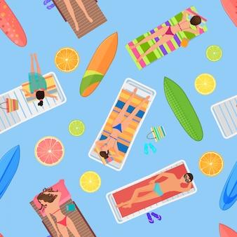 Zwembad naadloze zomer patroon