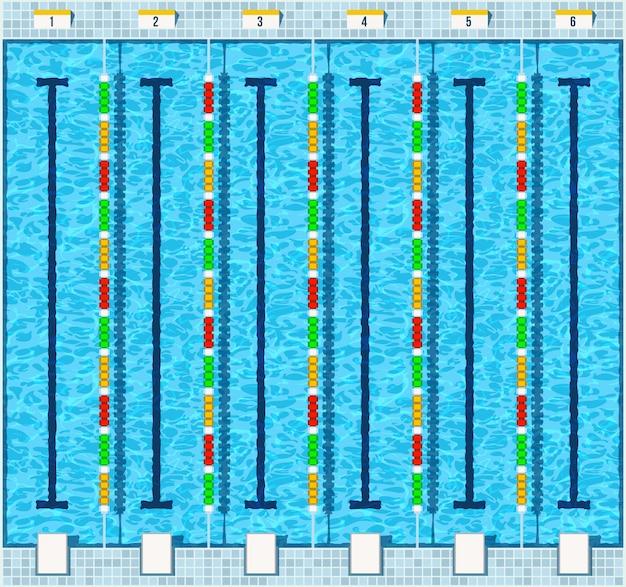 Zwembad plat