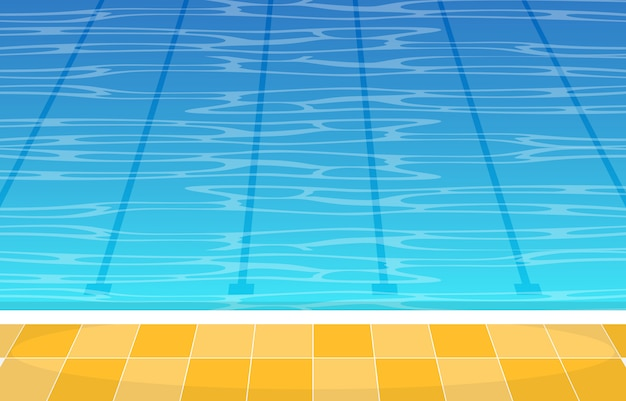 Zwembad zomervakantie gezonde sport cartoon