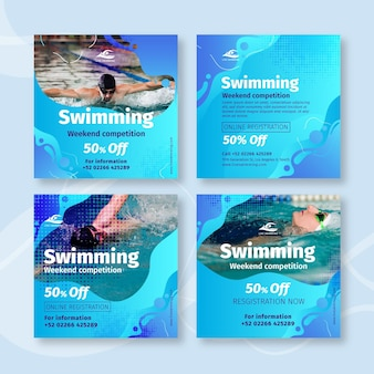 Zwemmen instagram-berichten