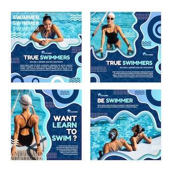 Zwemmen instagram posts