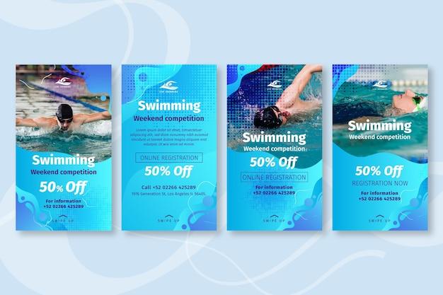 Zwemmen instagram-verhalen