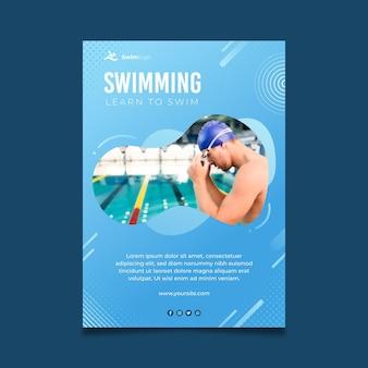 Zwemmen poster sjabloon