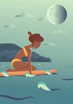 Zwemmende vectorillustratie van het meisjes vectorillustratie