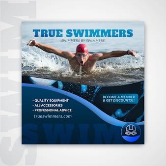 Zwemvliegersjabloon met foto