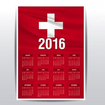 Zwitserland kalender van 2016