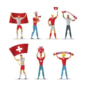 Zwitserland voetbalfans