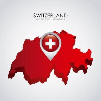 Zwitsers ontwerp over grijze vectorillustratie als achtergrond