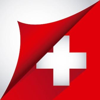 Zwitsers ontwerp over witte vectorillustratie als achtergrond