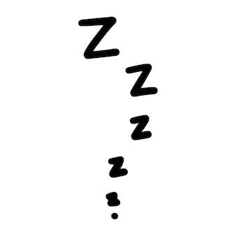 Zzz slaap icoon.